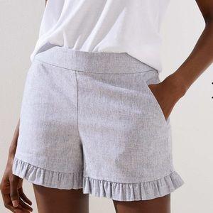 NEW LOFT Plus ruffle shorts size 22